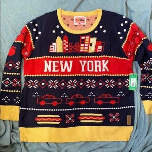 NWT Tipsy Elves Christmas New York Sweater Size XL